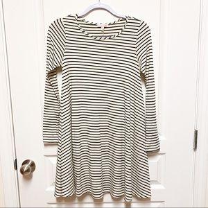 Gianni Bini GB Cream Striped Swing Dress